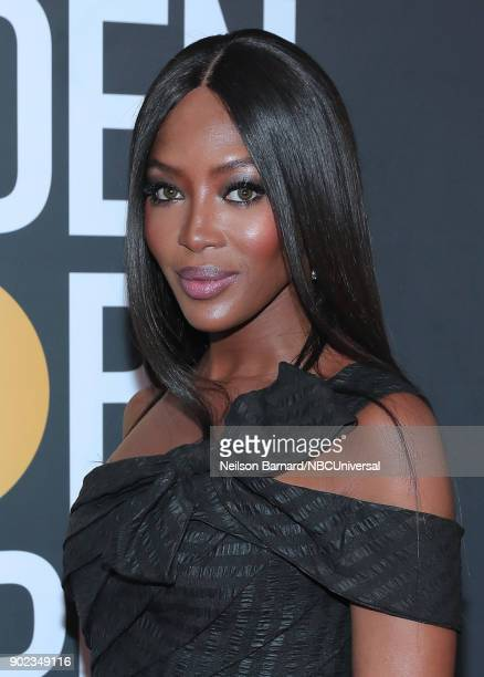 75th ANNUAL GOLDEN GLOBE AWARDS Pictured Model Naomi Campbell arrives to the 75th Annual Golden Globe Awards held at the Beverly Hilton Hotel on...