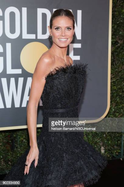 75th ANNUAL GOLDEN GLOBE AWARDS Pictured ModelTV personality Heidi Klum arrives to the 75th Annual Golden Globe Awards held at the Beverly Hilton...