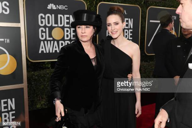 75th ANNUAL GOLDEN GLOBE AWARDS Pictured Producer Amy ShermanPalladino and Rachel Brosnahan arrive to the 75th Annual Golden Globe Awards held at the...