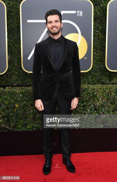 75th ANNUAL GOLDEN GLOBE AWARDS Pictured Producer Andrea Iervolino arrives to the 75th Annual Golden Globe Awards held at the Beverly Hilton Hotel on...