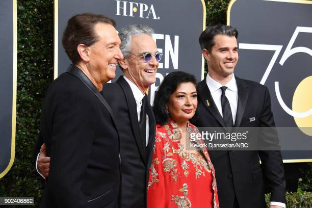 75th ANNUAL GOLDEN GLOBE AWARDS Pictured Producer Barry Adelman executive producer Allen Shapiro HFPA President Meher Tatna and producer Michael...