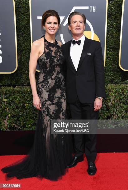 75th ANNUAL GOLDEN GLOBE AWARDS Pictured Producer Desiree Gruber and actor Kyle MacLachlan arrive to the 75th Annual Golden Globe Awards held at the...
