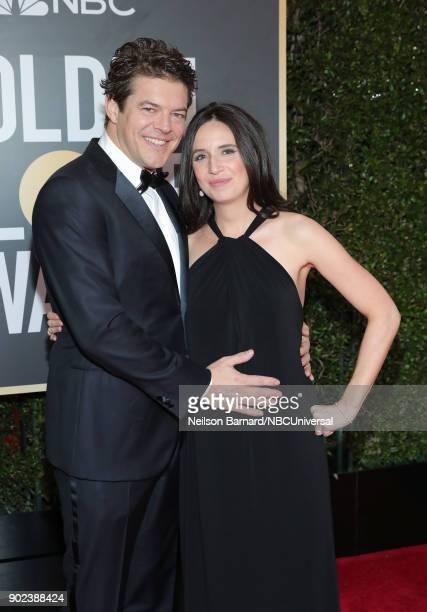 75th ANNUAL GOLDEN GLOBE AWARDS Pictured Producer Jason Blum and journalist Lauren Schuker arrive to the 75th Annual Golden Globe Awards held at the...