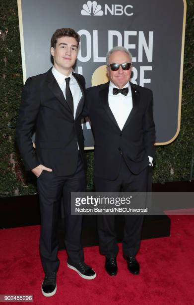 75th ANNUAL GOLDEN GLOBE AWARDS Pictured Producer Lorne Michaels and Edward Edward Lipowitz arrive to the 75th Annual Golden Globe Awards held at the...