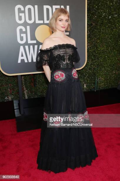 75th ANNUAL GOLDEN GLOBE AWARDS Pictured Recording artist Alison Sudol arrives to the 75th Annual Golden Globe Awards held at the Beverly Hilton...