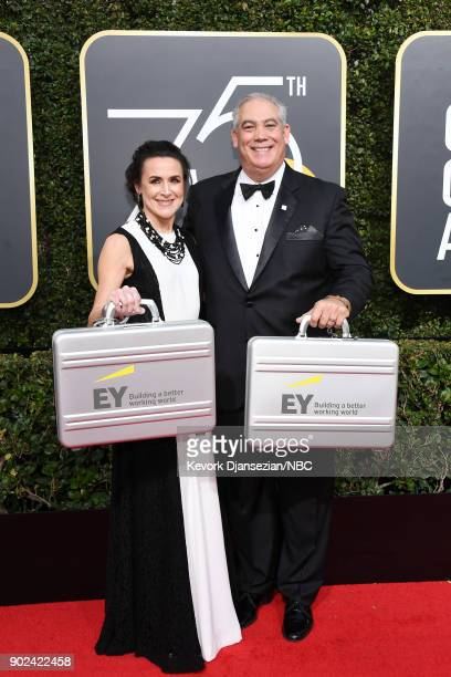 75th ANNUAL GOLDEN GLOBE AWARDS Pictured Representatives from EY arrive to the 75th Annual Golden Globe Awards held at the Beverly Hilton Hotel on...