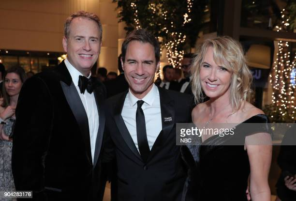 75th ANNUAL GOLDEN GLOBE AWARDS Pictured Robert Greenblatt Chairman NBC Entertainment Erick McCormack 'Will Grace' Janet Holden at NBC and USA...