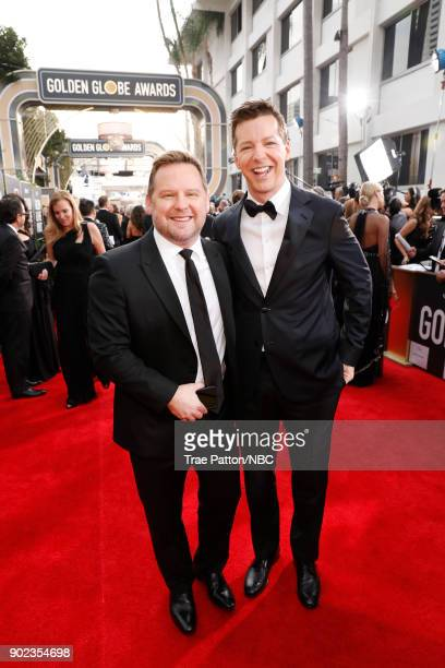 75th ANNUAL GOLDEN GLOBE AWARDS Pictured Scott Icenogle and actor Sean Hayes arrive to the 75th Annual Golden Globe Awards held at the Beverly Hilton...
