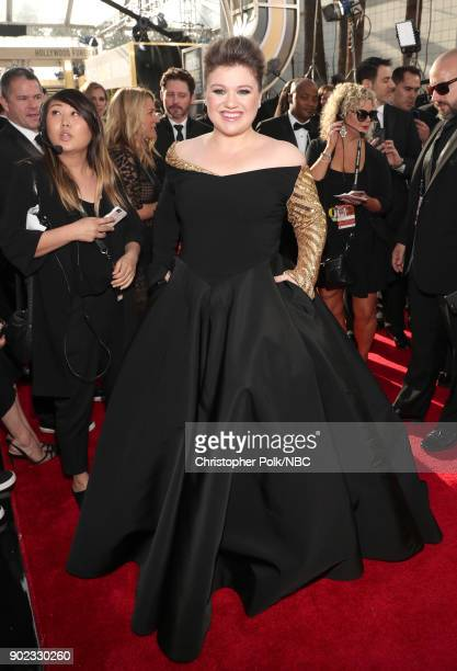 75th ANNUAL GOLDEN GLOBE AWARDS Pictured Singer Kelly Clarkson arrives to the 75th Annual Golden Globe Awards held at the Beverly Hilton Hotel on...