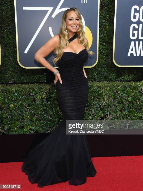 75th ANNUAL GOLDEN GLOBE AWARDS Pictured Singer Mariah Carey arrives to the 75th Annual Golden Globe Awards held at the Beverly Hilton Hotel on...
