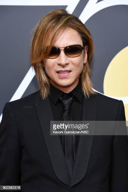 75th ANNUAL GOLDEN GLOBE AWARDS Pictured Singer Yoshiki arrives to the 75th Annual Golden Globe Awards held at the Beverly Hilton Hotel on January 7...