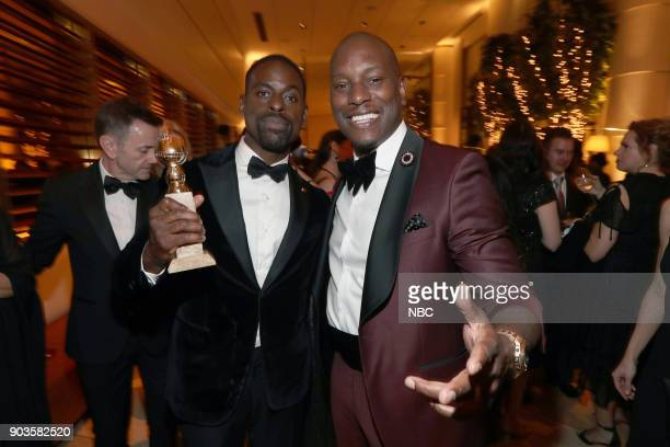 75th ANNUAL GOLDEN GLOBE AWARDS Pictured Sterling K Brown 'This is Us' Tyrese Gibson at NBC and USA Network's PostGolden Globe Awards Party held at...