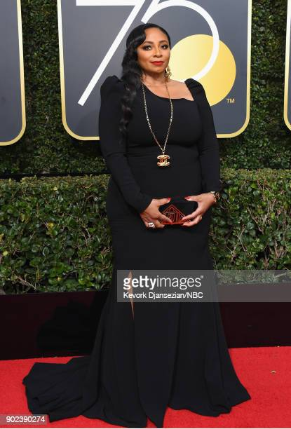 75th ANNUAL GOLDEN GLOBE AWARDS Pictured Taura Stinson arrives to the 75th Annual Golden Globe Awards held at the Beverly Hilton Hotel on January 7...