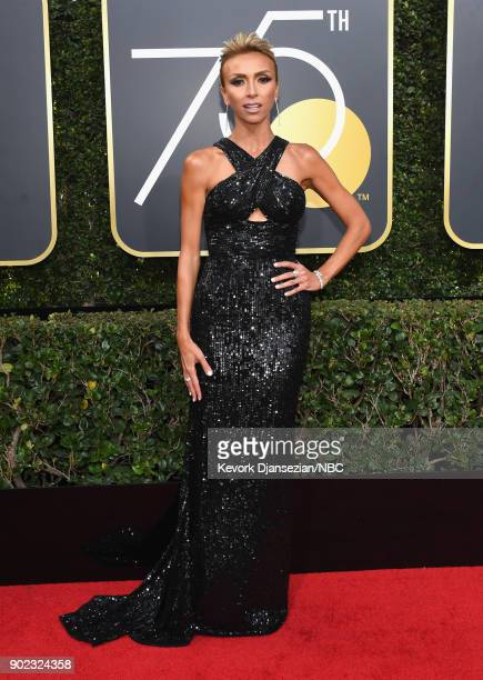 75th ANNUAL GOLDEN GLOBE AWARDS Pictured TV personality Giuliana Rancic arrive to the 75th Annual Golden Globe Awards held at the Beverly Hilton...