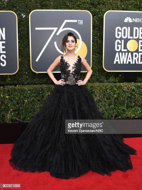 75th ANNUAL GOLDEN GLOBE AWARDS Pictured TV personality Laura Marano arrives to the 75th Annual Golden Globe Awards held at the Beverly Hilton Hotel...