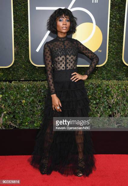 75th ANNUAL GOLDEN GLOBE AWARDS Pictured TV personality Zuri Hall arrives to the 75th Annual Golden Globe Awards held at the Beverly Hilton Hotel on...