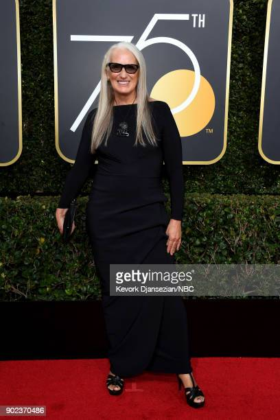 75th ANNUAL GOLDEN GLOBE AWARDS Pictured Writer Jane Campion arrives to the 75th Annual Golden Globe Awards held at the Beverly Hilton Hotel on...