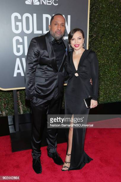 75th ANNUAL GOLDEN GLOBE AWARDS Pictured Writer Kenya Barris and Dr Rainbow EdwardsBarris arrive to the 75th Annual Golden Globe Awards held at the...