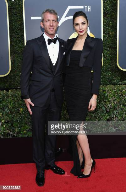 75th ANNUAL GOLDEN GLOBE AWARDS Pictured Yaron Versano and actor Gal Gadot arrive to the 75th Annual Golden Globe Awards held at the Beverly Hilton...