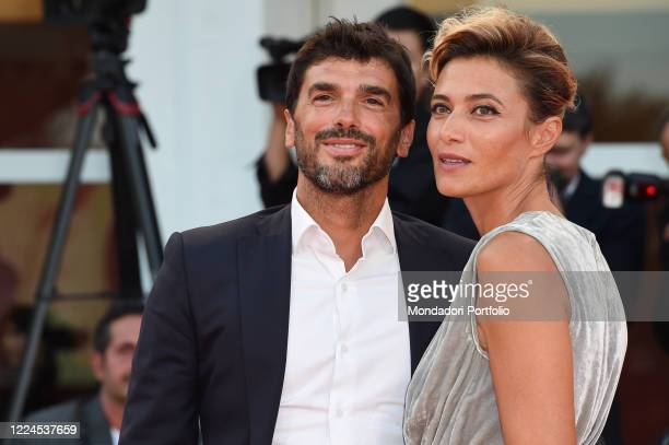 75th Venice Film Festival. Anna Foglietta and husband Paolo Sopranzetti during the í22 July' red carpet, on the occasion of the 75th Venice Film...