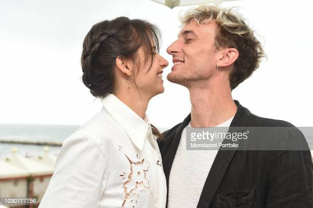 75th Venice Film Festival In the picture actress Federica Sabatini and boyfriend Teodoro Giambanco poses in Venezia Lido September 1th 2018