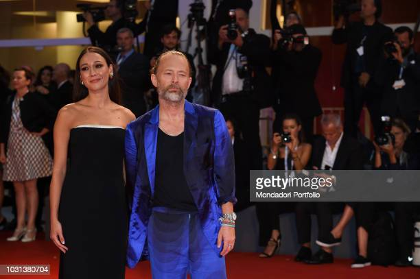 75th Venice Film Festival Suspiria red carpet In the picture Thom Yorke and Dajana Roncione during the red carpet on the occasion of the 75th Venice...