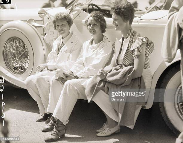 7/6/1933Los Angeles CA Photo shows three interesting figures at the National Air Races here which have attracted worldfamed aviators from all parts...