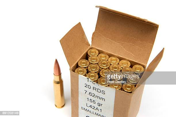 7.62mm bullets - ammunition stock pictures, royalty-free photos & images