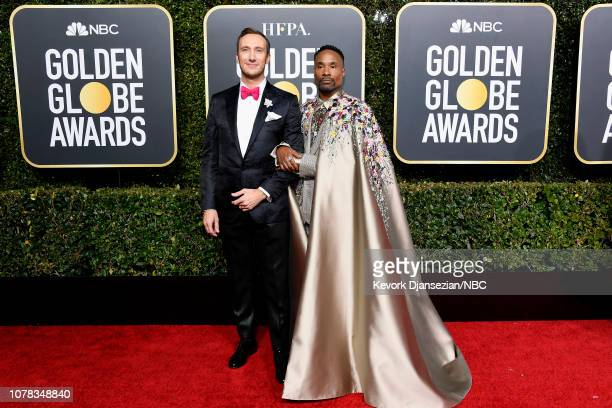 76th ANNUAL GOLDEN GLOBE AWARDS Pictured Adam Smith and Billy Porter arrive to the 76th Annual Golden Globe Awards held at the Beverly Hilton Hotel...