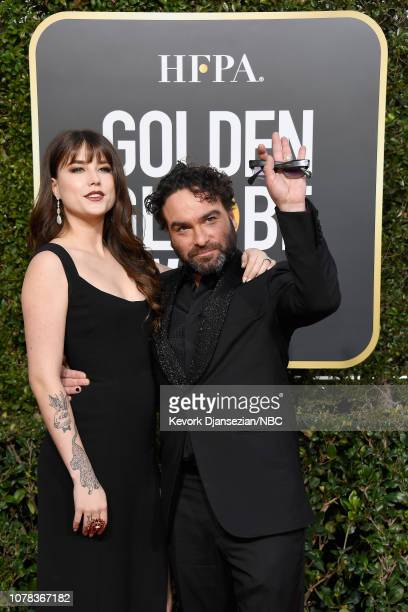76th ANNUAL GOLDEN GLOBE AWARDS Pictured Alaina Meyer and Johnny Galecki arrive to the 76th Annual Golden Globe Awards held at the Beverly Hilton...