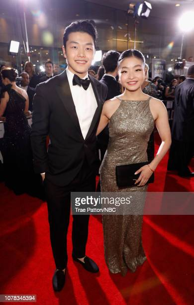 76th ANNUAL GOLDEN GLOBE AWARDS Pictured Alex Shibutani and Maia Shibutani arrive to the 76th Annual Golden Globe Awards held at the Beverly Hilton...