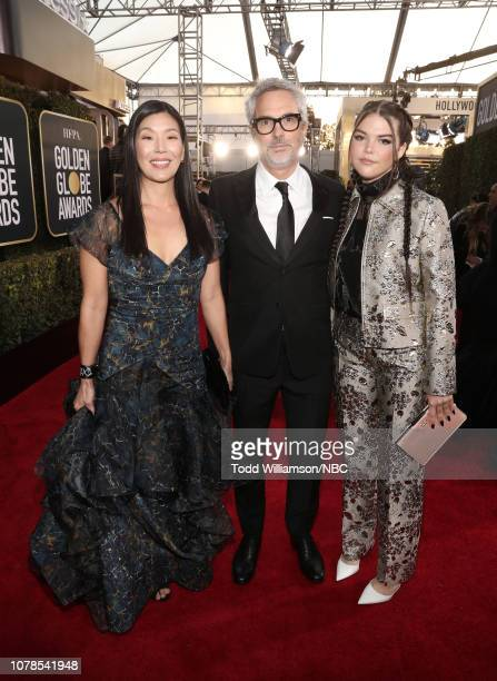 76th ANNUAL GOLDEN GLOBE AWARDS Pictured Alfonso Cuaron and Tess Bu Cuaron arrive to the 76th Annual Golden Globe Awards held at the Beverly Hilton...