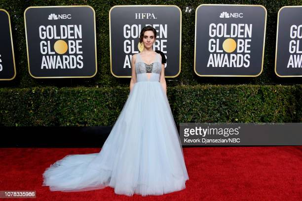 76th ANNUAL GOLDEN GLOBE AWARDS Pictured Alison Brie arrives to the 76th Annual Golden Globe Awards held at the Beverly Hilton Hotel on January 6 2019