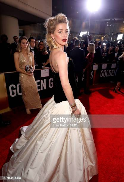 76th ANNUAL GOLDEN GLOBE AWARDS Pictured Amber Heard arrives to the 76th Annual Golden Globe Awards held at the Beverly Hilton Hotel on January 6 2019