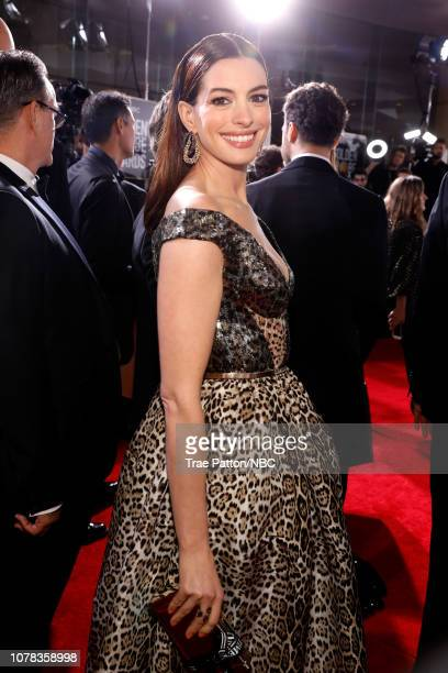 76th ANNUAL GOLDEN GLOBE AWARDS Pictured Anne Hathaway arrives to the 76th Annual Golden Globe Awards held at the Beverly Hilton Hotel on January 6...
