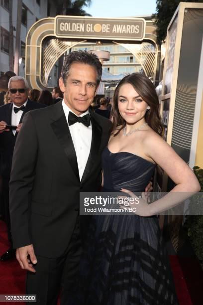 76th ANNUAL GOLDEN GLOBE AWARDS Pictured Ben Stiller and Ella Olivia Stiller arrive to the 76th Annual Golden Globe Awards held at the Beverly Hilton...