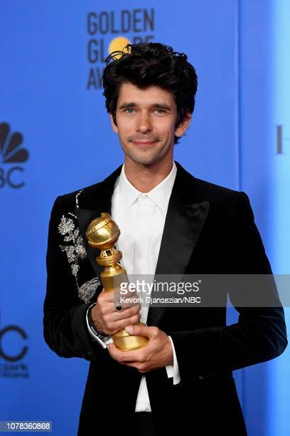 76th ANNUAL GOLDEN GLOBE AWARDS Pictured Ben Whishaw poses with award for Best Performance by an Actor in a Supporting Role in a Series Limited...