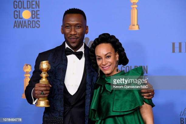 76th ANNUAL GOLDEN GLOBE AWARDS Pictured Best Motion Picture Musical or Comedy award for 'Green Book' winner Mahershala Ali and Amatus SamiKarim pose...