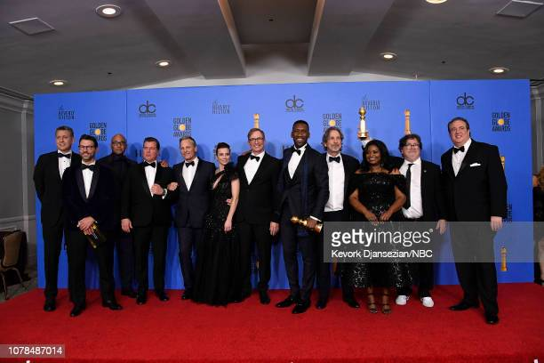 76th ANNUAL GOLDEN GLOBE AWARDS Pictured Best Motion Picture Musical or Comedy award for 'Green Book' winners Kwame Parker Brian Currie Viggo...