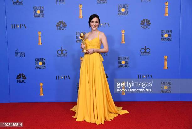 76th ANNUAL GOLDEN GLOBE AWARDS Pictured Best Performance by an Actress in a Television Series Musical or Comedy Winner for 'The Marvelous Mrs...