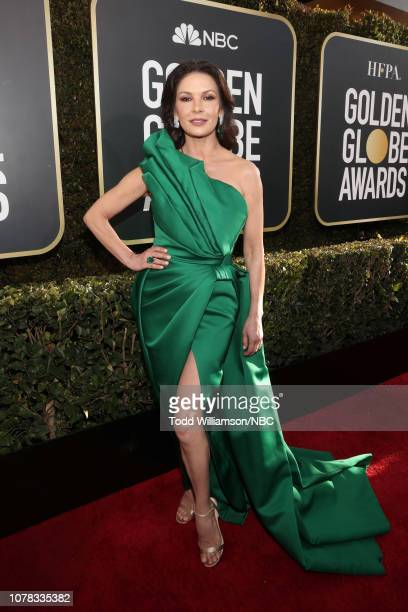 76th ANNUAL GOLDEN GLOBE AWARDS Pictured Catherine ZetaJones arrives to the 76th Annual Golden Globe Awards held at the Beverly Hilton Hotel on...