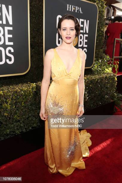 76th ANNUAL GOLDEN GLOBE AWARDS Pictured Claire Foy arrives to the 76th Annual Golden Globe Awards held at the Beverly Hilton Hotel on January 6 2019