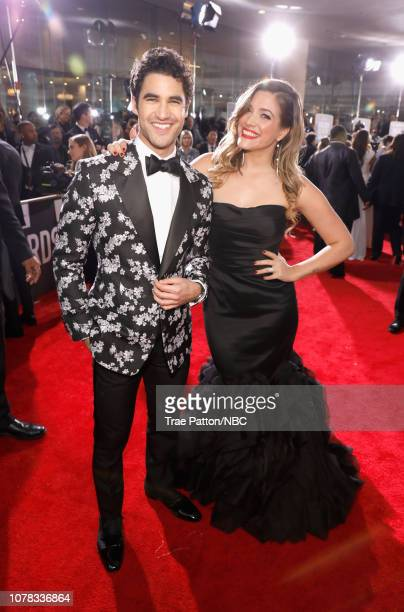 76th ANNUAL GOLDEN GLOBE AWARDS Pictured Darren Criss and Mia Swier arrive to the 76th Annual Golden Globe Awards held at the Beverly Hilton Hotel on...