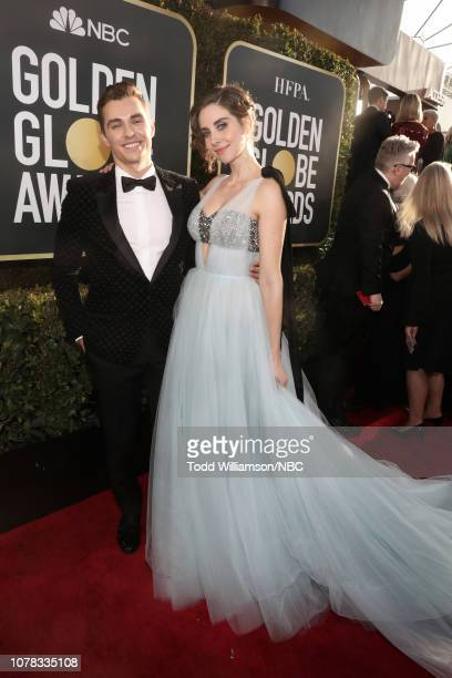 76th ANNUAL GOLDEN GLOBE AWARDS -- Pictured: Dave Franco and Alison Brie arrive to the 76th Annual Golden Globe Awards held at the Beverly Hilton...