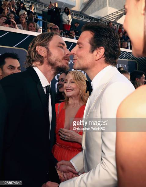 76th ANNUAL GOLDEN GLOBE AWARDS Pictured Dax Shepard and Bradley Cooper arrive to the 76th Annual Golden Globe Awards held at the Beverly Hilton...