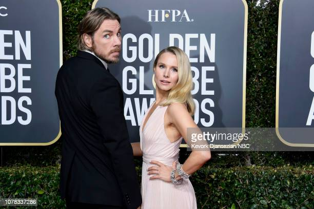 76th ANNUAL GOLDEN GLOBE AWARDS -- Pictured: Dax Shepard and Kristen Bell arrive to the 76th Annual Golden Globe Awards held at the Beverly Hilton...