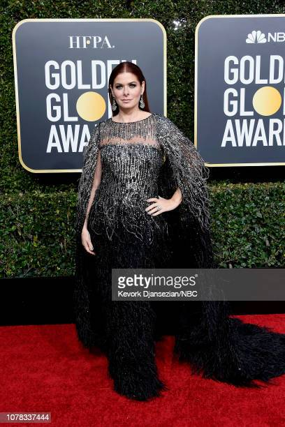 76th ANNUAL GOLDEN GLOBE AWARDS Pictured Debra Messing arrives to the 76th Annual Golden Globe Awards held at the Beverly Hilton Hotel on January 6...