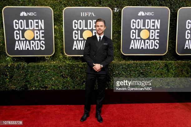 76th ANNUAL GOLDEN GLOBE AWARDS Pictured Derek Hough arrive to the 76th Annual Golden Globe Awards held at the Beverly Hilton Hotel on January 6 2019