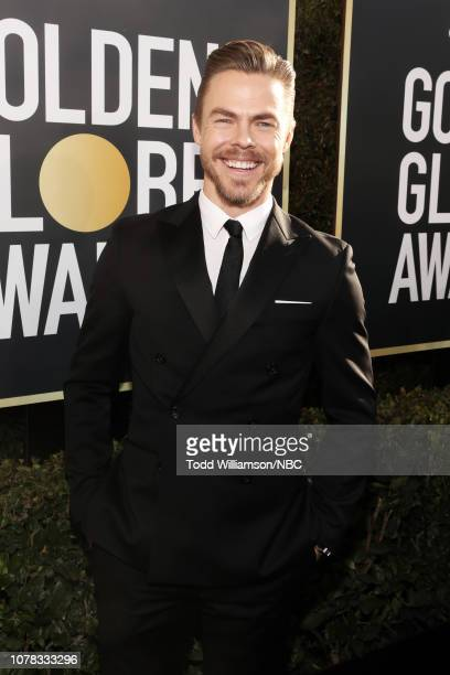76th ANNUAL GOLDEN GLOBE AWARDS Pictured Derek Hough arrives to the 76th Annual Golden Globe Awards held at the Beverly Hilton Hotel on January 6 2019