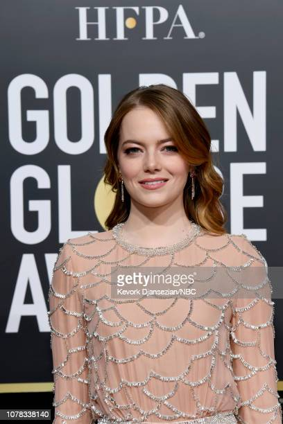76th ANNUAL GOLDEN GLOBE AWARDS Pictured Emma Stone arrives to the 76th Annual Golden Globe Awards held at the Beverly Hilton Hotel on January 6 2019